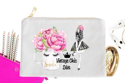 Fashion Girl Smile1 White-