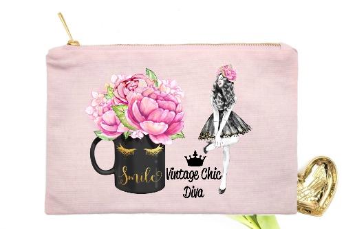 Fashion Girl Smile4 Pink-