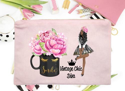 Fashion Girl Smile5 Pink-