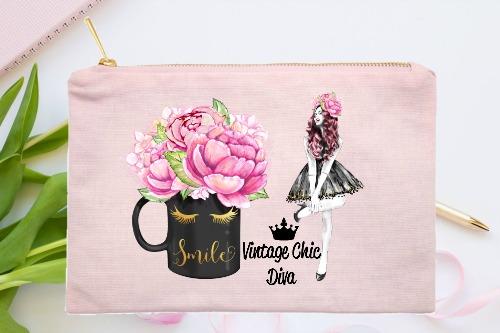 Fashion Girl Smile6 Pink-