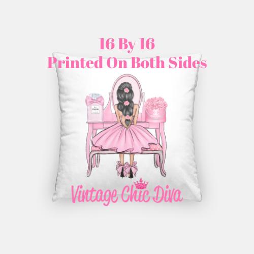 Flower Vanity Girl10 Pillow Case-