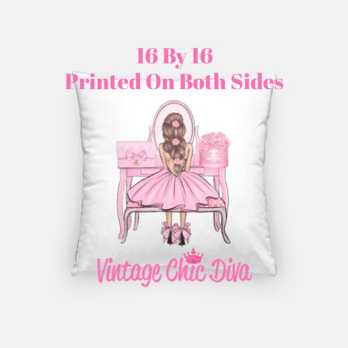 Flower Vanity Girl13 Pillow Case-