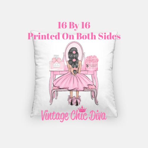 Flower Vanity Girl22 Pillow Case-
