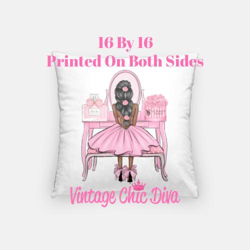 Flower Vanity Girl24 Pillow Case-