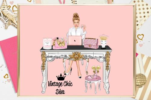 Girl Boss Set4 Blush Background-