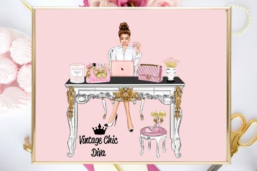 Girl Boss Set7 Pink Background-