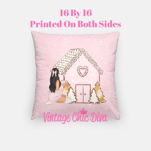 Girly Christmas Set4 Pillow Case-