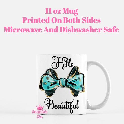 Hello Beautiful Bow2 Coffee Mug-