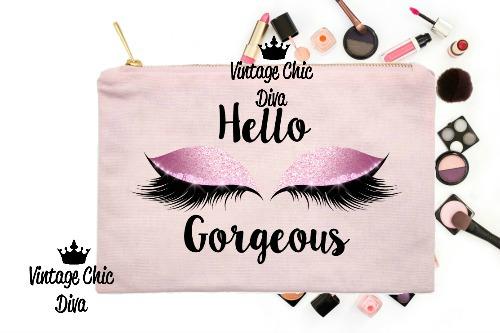 Hello Gorgeous Makeup Bag Pink Pink-