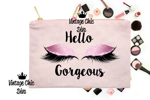 Hello Gorgeous Makeup Bag Pink Pink-