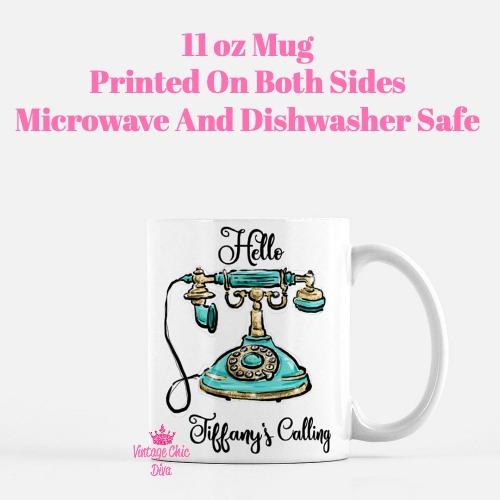Hello Tiffany's Calling Coffee Mug-