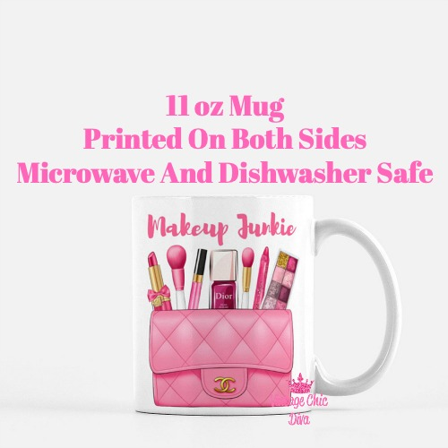 Hot Pink Chanel Bag Makeup11 Coffee Mug-