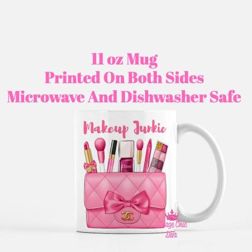 Hot Pink Chanel Bag Makeup12 Coffee Mug-