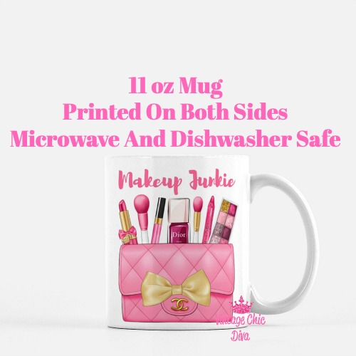 Hot Pink Chanel Bag Makeup13 Coffee Mug-