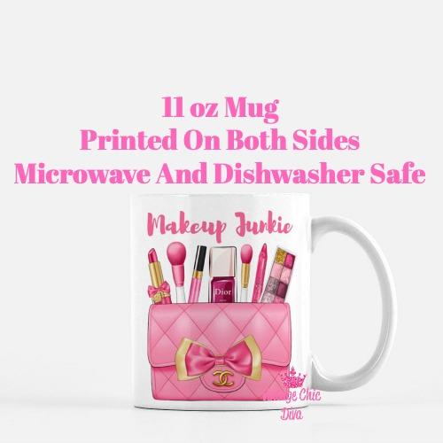 Hot Pink Chanel Bag Makeup14 Coffee Mug-