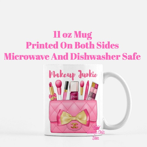 Hot Pink Chanel Bag Makeup15 Coffee Mug-