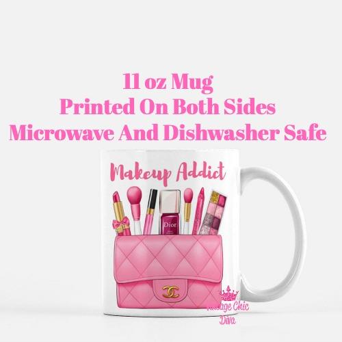 Hot Pink Chanel Bag Makeup6 Coffee Mug-