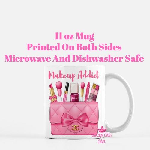Hot Pink Chanel Bag Makeup7 Coffee Mug-