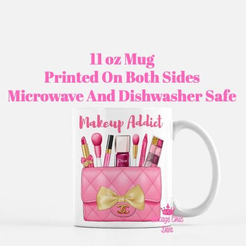 Hot Pink Chanel Bag Makeup8 Coffee Mug-