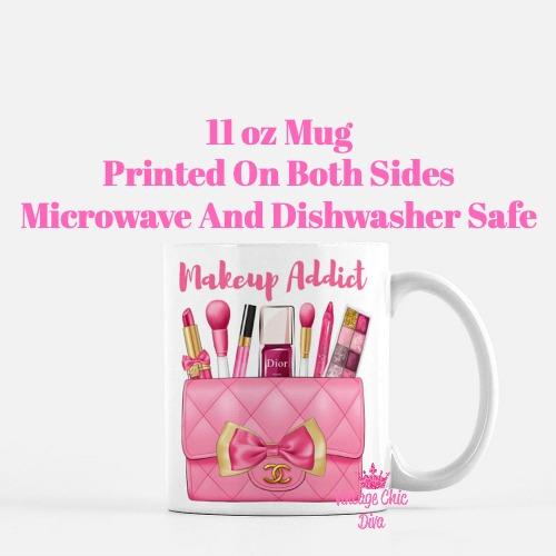 Hot Pink Chanel Bag Makeup9 Coffee Mug-