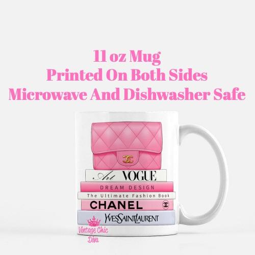 Hot Pink Chanel Handbag Fashion Book Set1 Coffee Mug-