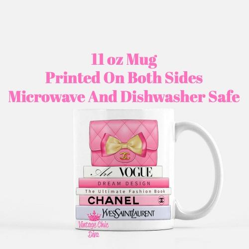 Hot Pink Chanel Handbag Fashion Book Set5 Coffee Mug-