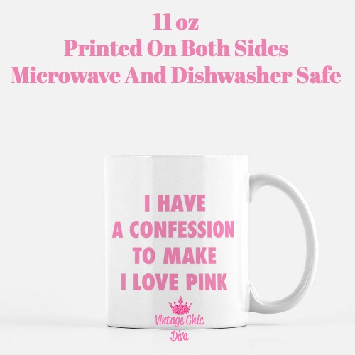 I love Pink Coffee Mug-
