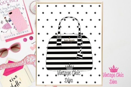 Kate Spade Purse11 Black Dots Background-