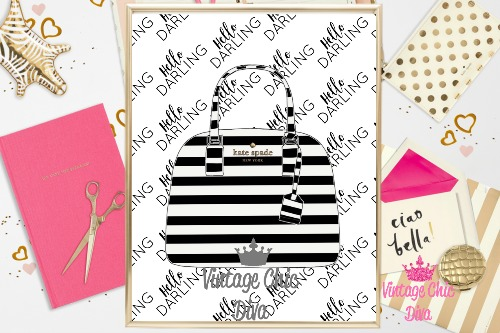 Kate Spade Purse11 Hello Darling Background-