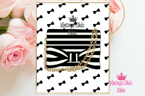 Kate Spade Purse7 Black Bows Background-