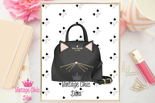 Kate Spade Purse8 Black Kitty Background-