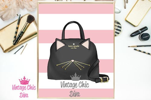 Kate Spade Purse8 Pink White Stripe Background-