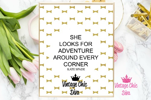 Kate Spade Quote3 Gold Bows Background-