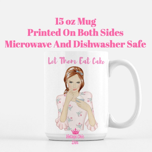 Let Them Eat Cake Girl2 Coffee Mug-