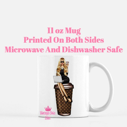Louis Vuitton Girl17 Coffee Mug-