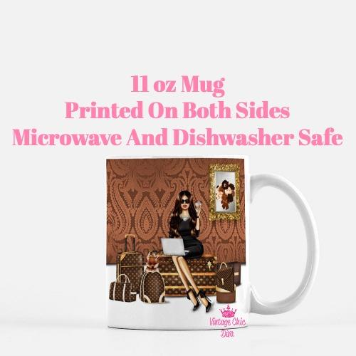 Louis Vuitton Girl1 Coffee Mug-