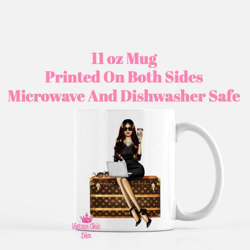 Louis Vuitton Girl7 Coffee Mug-