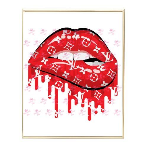 Louis Vuitton Lips Drip11 Wh Bg-