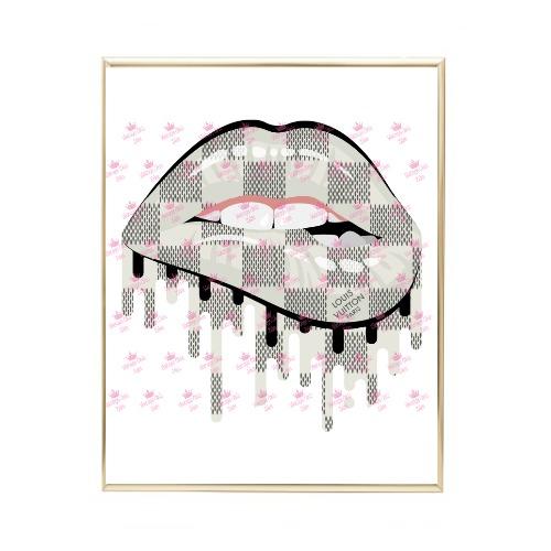 Louis Vuitton Lips Drip1 Wh Bg-