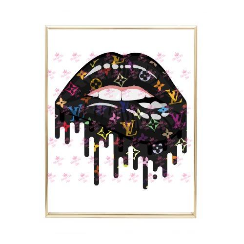 Louis Vuitton Lips Drip4 Wh Bg-