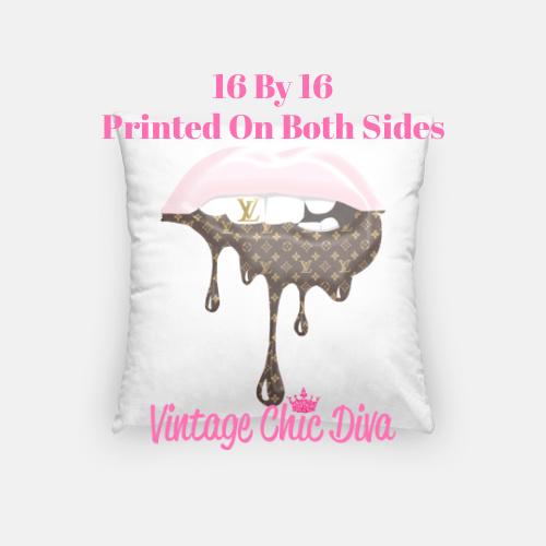 LV Lips12 Pillow Case-