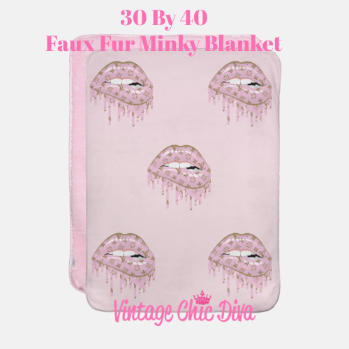LV Lips2 Blanket-