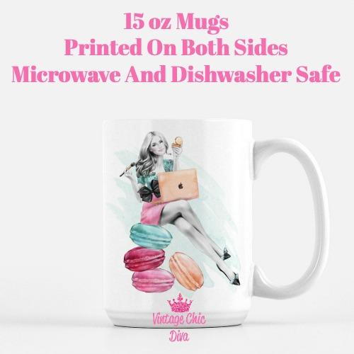 Macaron Girl1 Coffee Mug-