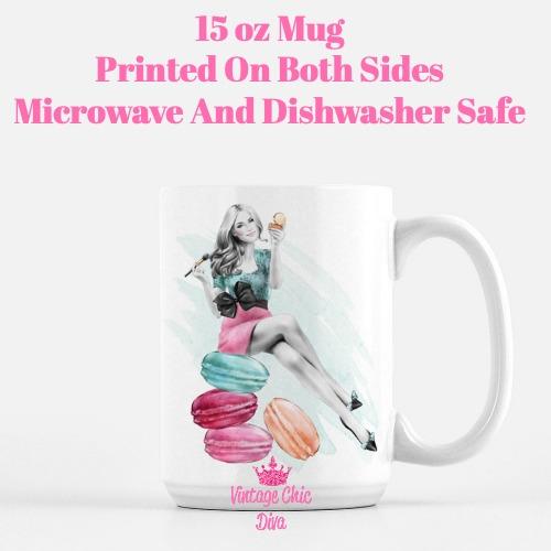 Macaron Girl2 Coffee Mug-