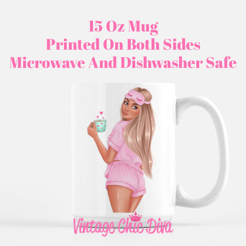 Morning Coffee Girl2 Coffee Mug-