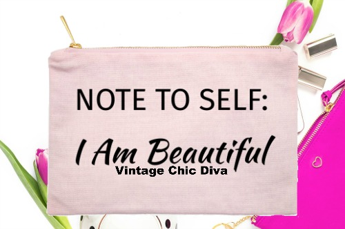 Note To Self I Am Beautiful Pink-