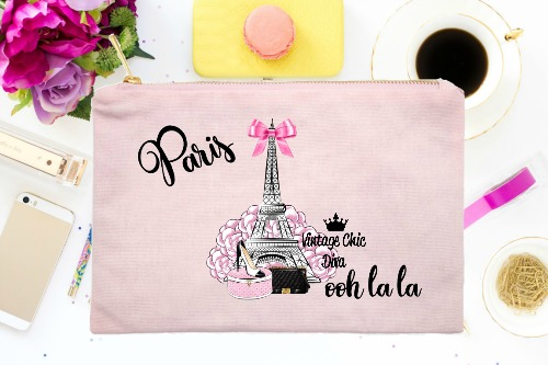 Paris Eiffel Tower Set Pink-