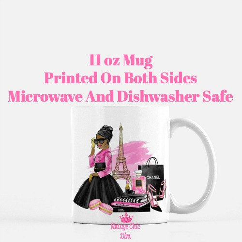 Paris Fashion Girl6 Coffee Mug-