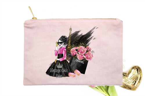 Paris Fashion Girl Black Set Pink-