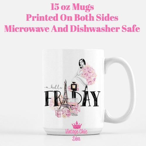 Paris Friday Girl7 Coffee Mug-